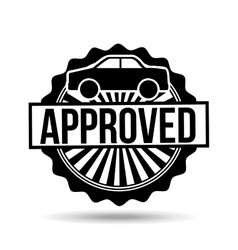Credit approved design vector