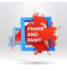 3d template with out of frame brush stroke vector