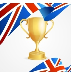 Greate britain winning golden cup concept vector