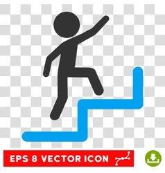 Child Steps Upstairs Eps Icon vector image vector image