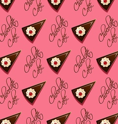 Chocolate cake seamless pattern vector