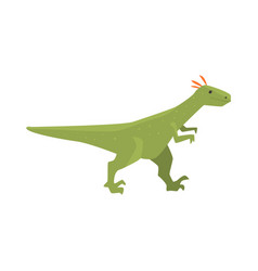 cute cartoon green dinosaur character jurassic vector image vector image