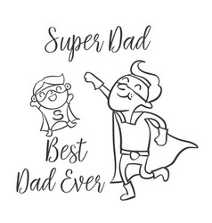 Doodle father day style collection vector