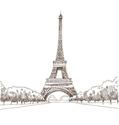 eiffel tower hand drawn paris royalty free vector image. Black Bedroom Furniture Sets. Home Design Ideas