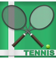 Grass court and rackets vector image vector image
