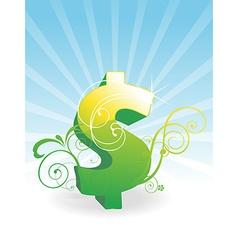 Green Dollar vector image