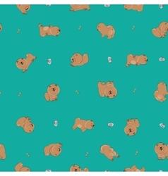 Happy puppies vector
