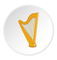 Harp icon cartoon style vector