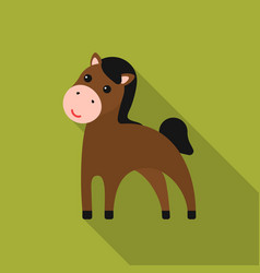 Horse flat icon for web and mobile vector