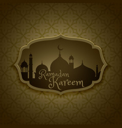Islamic ramadan festival greeting design vector