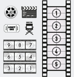 Movie and Cinema graphics vector image vector image