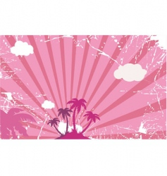 Palm tree island vector
