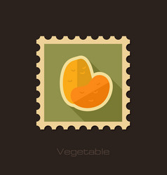 potato flat stamp vegetable vector image