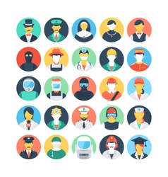 Professions colored icons 1 vector