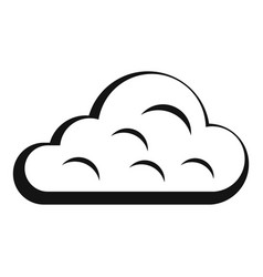 Rainy cloud icon simple style vector