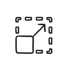 Scalability sketch icon vector