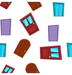 Security door pattern cartoon style vector