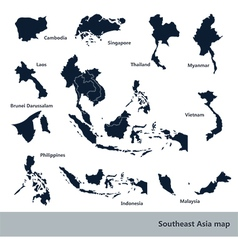 Southeast asia map2 vector
