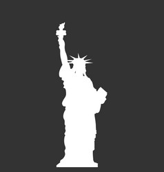 Statue of liberty new york usa simple white vector