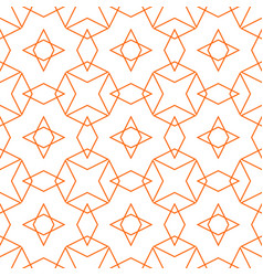 Tile pattern or orange and white background vector