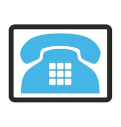 Tone phone framed icon vector