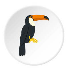 Toucan ramphastos vitellinus icon circle vector