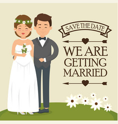 we are getting married card vector image vector image