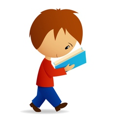 young cartoon student vector image vector image