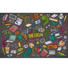 Set of design theme items vector