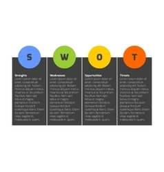 Swot business infographic diagram vector