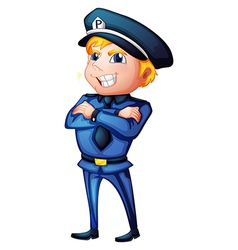 A policeman in a complete uniform vector