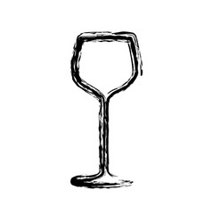 blurred sketch contour drink cocktail glass icon vector image