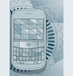 Push-button telephone vector