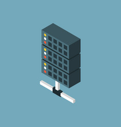 Server isometric icon vector