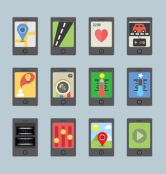 Mobile and tablet apps vector