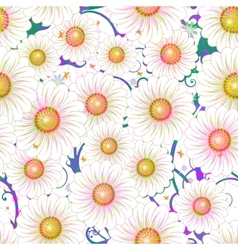 Daisy floral seamless pattern  eps 10 vector