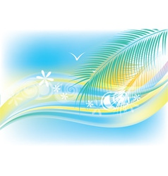Summer sea background vector