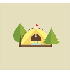 Tent camping vector image