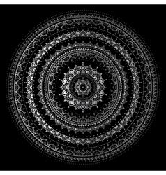 Silver mandala vector image