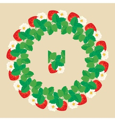 Strawberry circle 2 380 vector