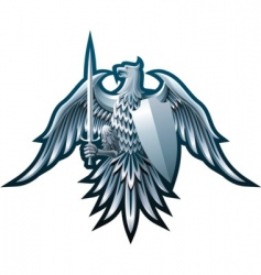 iron eagle vector image
