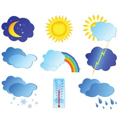 Weather elements vector