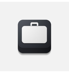 Square button portfolio vector