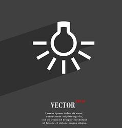 light bulb icon symbol Flat modern web design with vector image