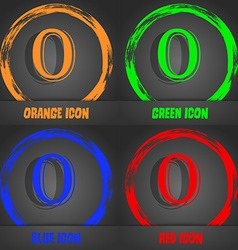 Number zero icon sign fashionable modern style in vector