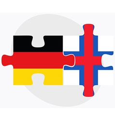 Germany and faroe islands flags vector