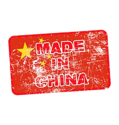 Grunge rubber stamp with made in china vector