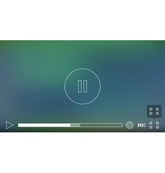 Video Player Window with Menu and Buttons Panel vector image