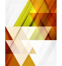 Transparent overlapping triangles on white vector