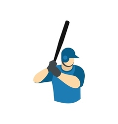 Baseball player flat icon vector